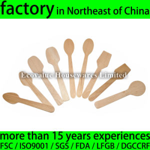 Birch Wooden Taster Spoon, Wood Disposable Spoon for Tasting pictures & photos