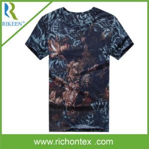 Men′s Cotton Short Sleeve All Over Print T-Shirt Sport Wear