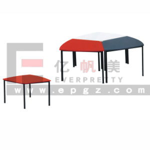 Library Furniture Student Movable Double Reading Table pictures & photos