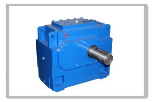 H Series Single Stage Industrial Gearbox with Solid Output Shaft