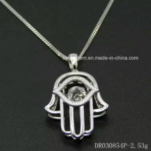 100% 925 Sterling Silver Dancing Stone Charm Pendant Necklace Cheap Silver Jewelry pictures & photos