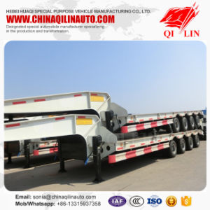 White Lowbed Semi-Trailer with Concave Beam pictures & photos