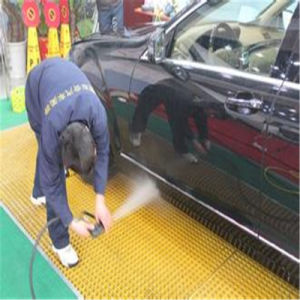 Concave Gritted Surface Treatment Molded FRP Gratings in Car Wash Shop pictures & photos