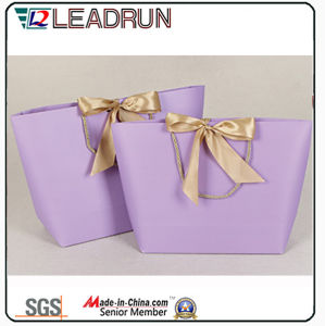 Brown Kraft Print Paper Shopping Gift Hand Promotional Coated Art Paper Carrier Cosmetic Jewelry Packing Bag (F60E) pictures & photos