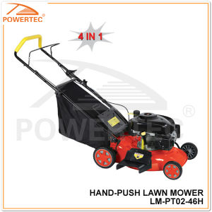 "Powertec 4 in 1 460mm 18"" Hand Push Lawn Mower (LM-PT02-46H) pictures & photos"