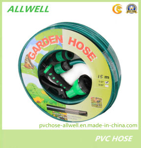 PVC Plastic Flexible Fiber Reinforced Braided Water Irrigation Agriculture Pipe Garden Hose pictures & photos
