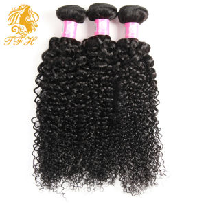 Indian Virgin Curly Hair with Closure 100% Human Hair with Closure Grade 7A Indian Curly Hair Bundle Deals with Lace Closure pictures & photos