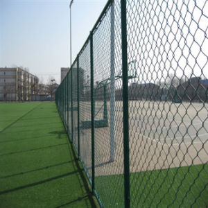 Alibaba Appress PVC Coated Meatl Wire Chain Link Fence for Sale pictures & photos