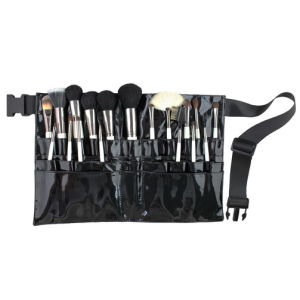 Balck Natural Hair Make up Brush Set 19PCS with PU Leather Waist Bag