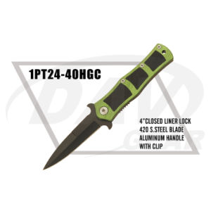 "4"" Closed Aluminum+G10 Handle Folding Knife with Clip (1PT24-40HGC) pictures & photos"