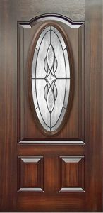 Mahogany 3 Panel Fiberglass Door pictures & photos