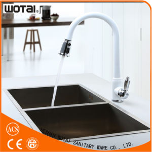 White Finished Pull out Kitchen Faucet Draw Type Faucet pictures & photos