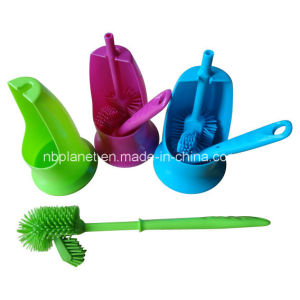 New Type Soft Bristle Toilet Brush with Holder Set pictures & photos
