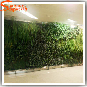 China Factory Price Decoration Artificial Fake Grass Green Wall pictures & photos