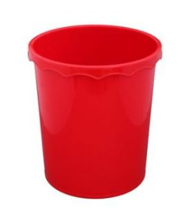 2015 Red Color Plastic Waste Bins pictures & photos