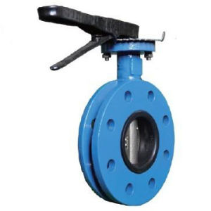 Doule Flanged Butterfly Valve with Cast Iron Handlever pictures & photos
