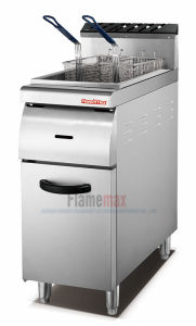 1-Tank 2-Basket Gas Fryer with Cabinet (HGF-90A) pictures & photos
