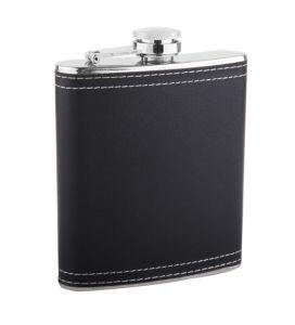 Chivas Black Leather Hip Flask (QL-BP07)