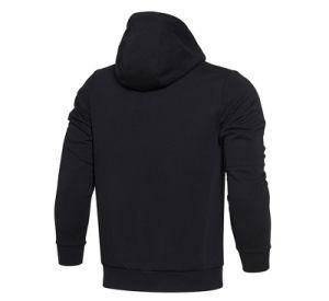 New Design Black Men Zipper Hoodiewith Neck Warmer pictures & photos