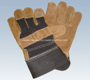 Cow Split Leather Working Gloves 1106 pictures & photos