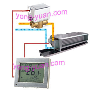 2-Pipe Touch Screen Metal Drawing Panel Room Thermostat (Mt-03-2) pictures & photos