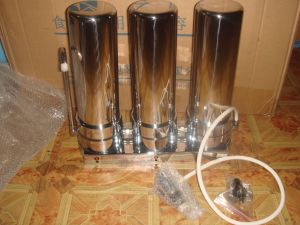 3 Stages Countertop 304 Stainless Steel Water Purifier with Direct Dirnking Water Solution pictures & photos