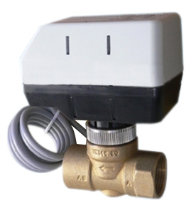 Motorized 2 Way Brass Ball Valve-on/off pictures & photos
