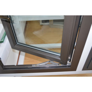 Powder Coated Thermal Break Aluminum Profile Casement & Top Hung Window with Multi Lock K03018 pictures & photos