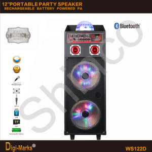 Dual 12-Inches PA Outdoor Wireless Power Battery Mobile Bluetooth Speaker pictures & photos