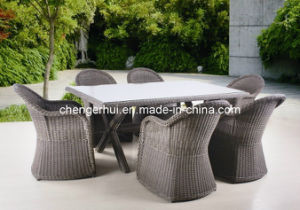 Rattan Dining Set/Rattan Outdoor Furniture/Outdoor Dining Table (DH 896)