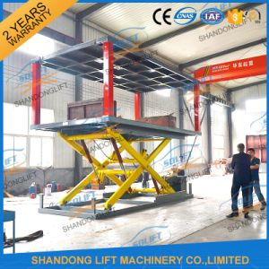 Double Platform Scissor Type Hydraulic Car Electric Lift with Ce pictures & photos