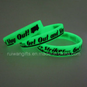 Glowing Silicone Bracelet for Advertising Gift (SIB043) pictures & photos