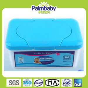Alcohol-Free Soft Baby Wet Wipes with Plastic Box pictures & photos