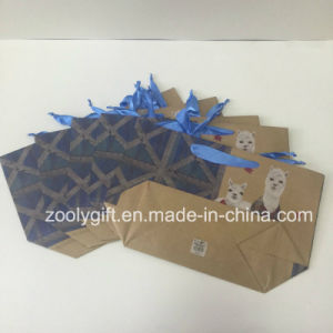Custom Printing Flat Bottom Paper Gift Bags pictures & photos