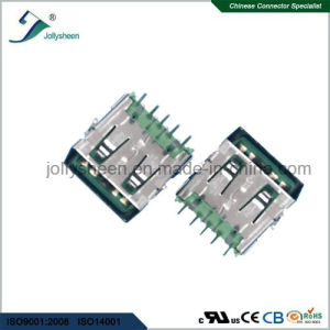USB3.0 a/F 9p Big Current 5A Right Angle DIP Type No Curling with Green Insulator pictures & photos