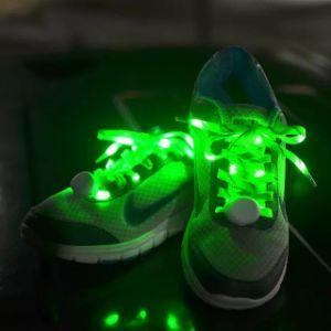 Nylon Shoelaces ODM/OEM Flashing Sports LED Shoelace Shine Night Running Shoelace pictures & photos