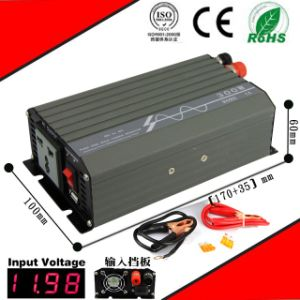 400W DC-AC Inverter 12VDC or 24VDC to 110VAC or 220VAC Pure Sine Wave Inverter pictures & photos