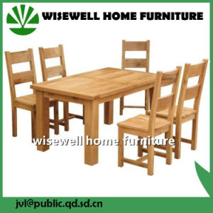Oak Wood Dining Room Furniture Set with 6 Chairs (W-5S-995) pictures & photos