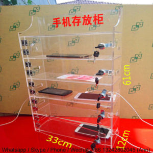 Clear Acrylic Mobile Phone Storage Box pictures & photos