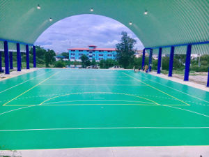 Bwf Certificate High Quality Outdoor PVC Sports Flooring Used to Badminton Court 6.0mm pictures & photos