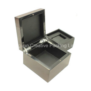 Wooden Watch Case Custom Black Lacquered Wooden Wrist Watch Box pictures & photos