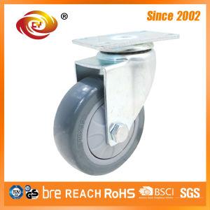 4 Inch Grey PU Medium Duty Trolley Wheel