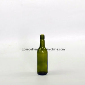 187ml Glass Wine Bottle with Bvs Top Green Color pictures & photos