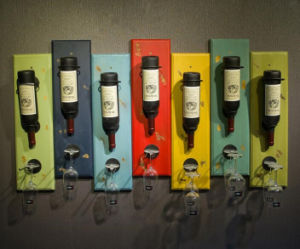 Custom Painting Wooden Wine Rack pictures & photos