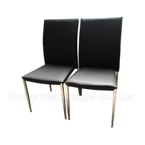 Wholesale Black Vinyl Leather Dining Room Chairs (SP-LC210) pictures & photos