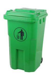 Suzhou Manufacturer of 100L Outdoors Dustbin with Wheel pictures & photos