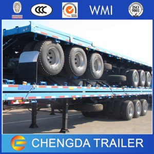 Tri Axle 40ft Truck Semi Platform Container Flatbed Trailer pictures & photos