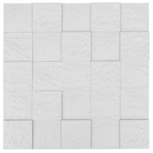 White FRP Tile Look 3D Waterproof Wall Panel
