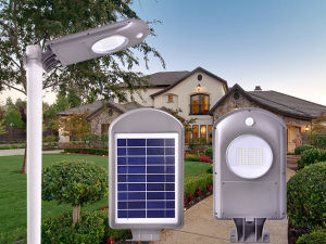 5W 10W LED Integrated Solar Garden Light with Auto Dim off