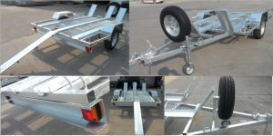 Galvanized Motorbike Park Trailers pictures & photos